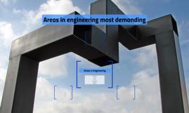 Areas in engineering most demanding