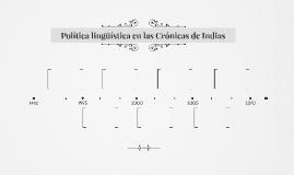Política lingüística en Crónicas de Indias