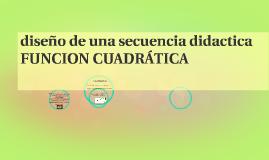 diseño de una secuencia didactica