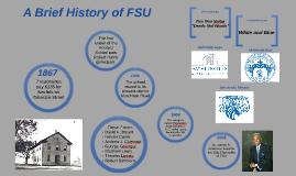 Copy of Brief History of FSU