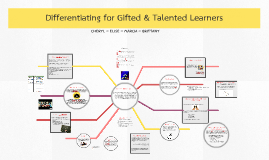 Copy of Differentiating for Gifted & Talented Learners