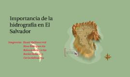 Importancia de las hidrografía en El Salvador