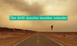 The 2015 America weather calender