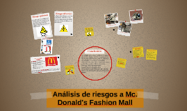 Análisis de riesgos a Mc. Donald's Fashion Mall