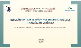 Redução do teor de flúor nos efluentes gasosos da indústria cerâmica