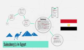 Sainsbury's in Egypt