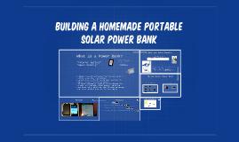 Homemade Portable Solar Power Bank