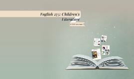 English 231: Children's Literature