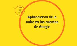 Aplicaciones de la nube en las cuentas de Google