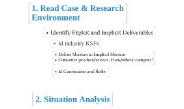 CMA Steps for Strategic Analysis of a Business Scenario