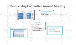 Membership Committee Annual Meeting