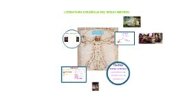 Copy of LA LITERATURA ESPAÑOLA DEL RENACIMIENTO