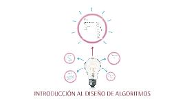INTRODUCCIÓN AL DISEÑO DE ALGORITMOS