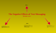 Negative Effects of Text messaging
