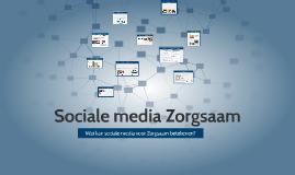 Sociale media Zorgsaam