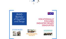 Bachelor of Visual Art and Design