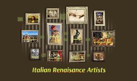 Italian Renaisance Artists