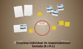 Empresa individual de responsabilidad limitada (E.I.R.L)