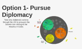 Option 1- Pursue Diplomacy