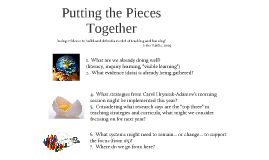 Putting the Pieces Together