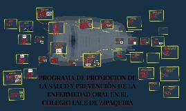 PROGRAMA DE PROMOCION DE LA SALUD Y PREVENCIÒN DE LA ENFERME