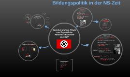 Bildungspolitik in der NS-Zeit