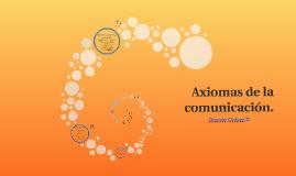 Axiomas de la comunicación.