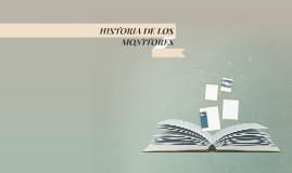 HISTORIA DE LOS MONITORES