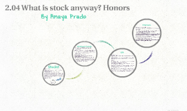 2.04 What is stock anyway? Honors
