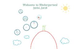 Welcome to Kindergarten Common Core