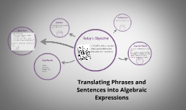Copy of 1.4 Translating Phrases and Sentences into Algebraic Expressions