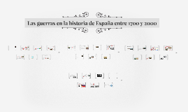 Las guerras  en la historia de España entre 1700 y 2000