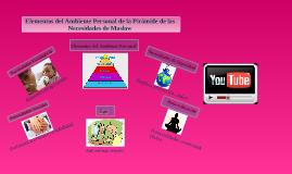 Elementos del Ambiente Personal de la Pirámide de las Necesidades de Maslow