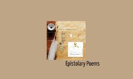Copy of Copy of Epistolary Poems