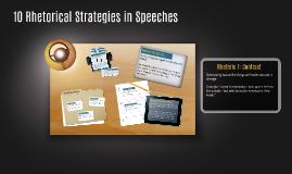 10 Rhetorical Strategies in Speeches