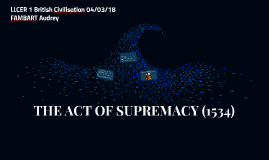 ACT OF SUPREMACY (1534)