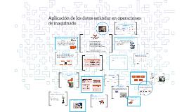 Aplicación de los datos estándar enoperaciones de maquinado