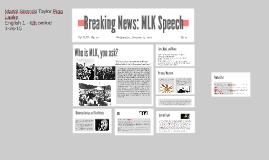 Breaking News: MLK Speech
