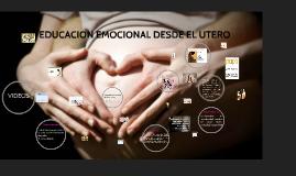 educación emocional desde el útero