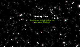 Finding Data