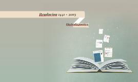 Resolucion 1441 - 2013