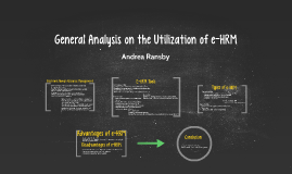 General Analysis on the Utilization of e-HRM