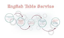 English Table Service