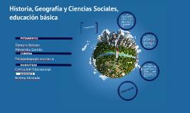 Historia, Geografía y Ciencias Sociales, educación básica
