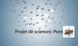 Projet de sciences: Pont