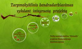 Copy of Tarpmokyklinis bendradarbiavimas vykdant integruotus projekt
