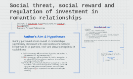 Social threat, social reward and regulation of investment in