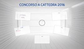 CONCORSO A CATTEDRA 2016