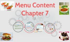 Menu Chapter 7