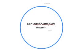 Een observatieplan maken